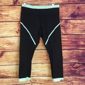 Lululemon Athletica Black Crop Legging w/ Trim